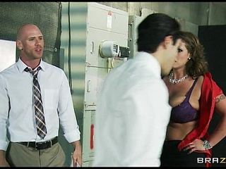 Big-boobed horny weather sweeping Eva Notty bonks her news producer