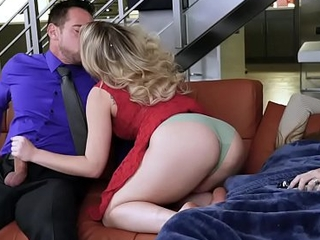 Step dad Johnny cock feeding her step daughter Zoey Monroe!