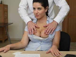 LOAN4K. Farcical sex on the desk in loan office be proper of necessary